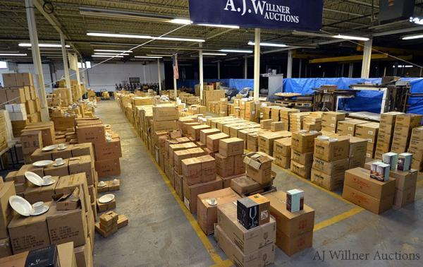 Warehouse Inventory of Porcelain Dishes & Glassware