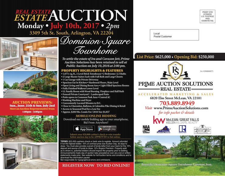 Dominion Square Townhouse Auction