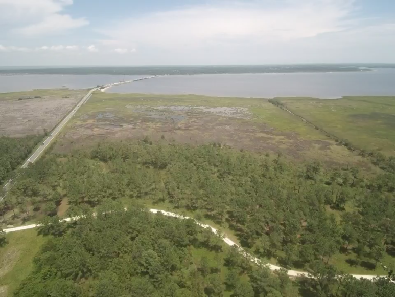 Developed 111+/- Acres Fronting the North River in Carteret County, NC