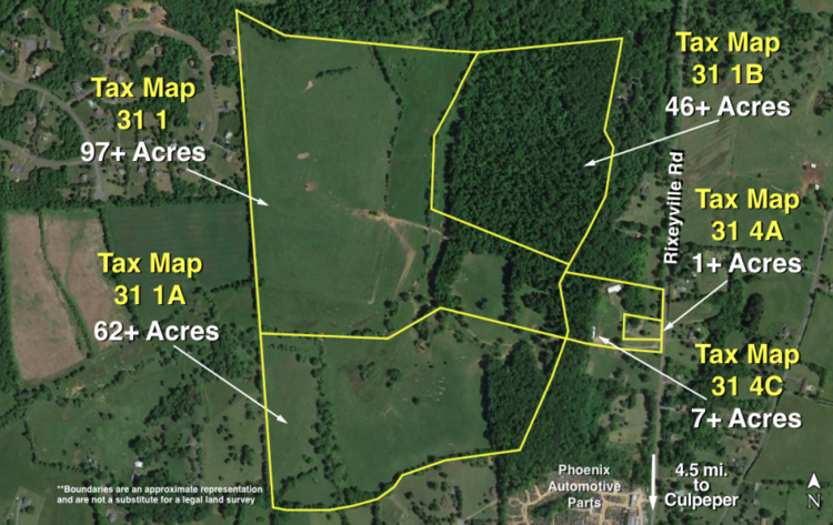 214 Acres:  5 Adjacent Parcels in Culpeper County, VA—Offered in Individual Tracts & Combinations