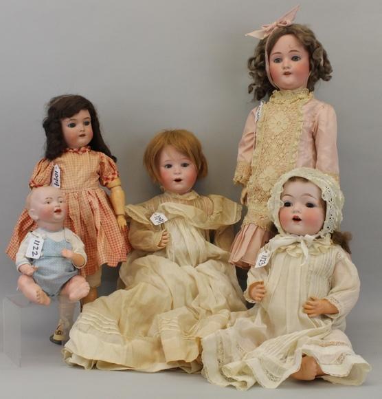 Online Only - Antique German Bisque Dolls & Body Parts: 1-16-18