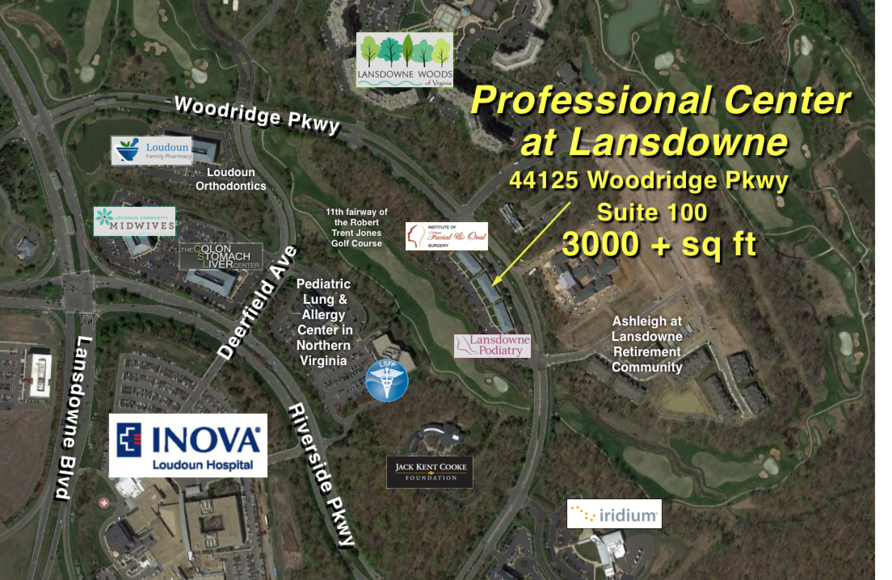 Featured Image for 3,000 +/- sf Medical Office Condo in the Professional Center at Landsdowne---Next to INOVA Hospital!!