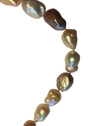 Lady's seventeen-inch Length Cultured Saltwater Multi-Color Pearl strand necklace with 14kt yellow gold clasp