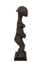 Wood Carved standing Female On Wood Base