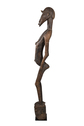 Wood Carved Standing Female Figure with Decorative Carvings