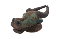 Wood Carved Buffalo Headdress