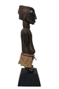 Wood Carved Standing Male Figure with Cotton Skirt