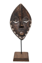 Wood Carved Mask with Round Mouth