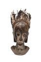 Wood Carved Bust in Basket