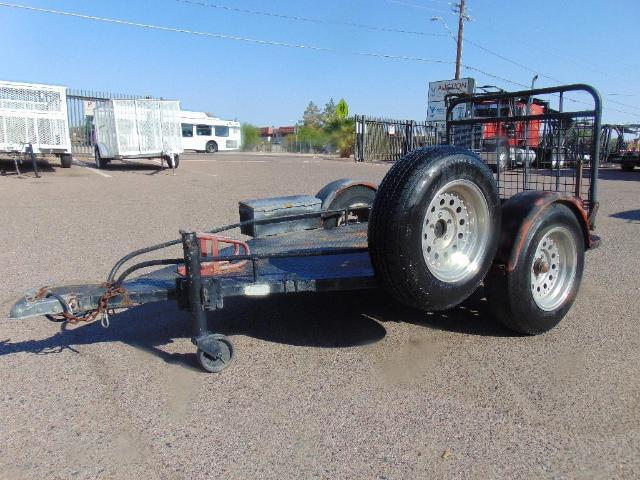 #16083: 2003 Homemade Motorcycle ATV Trailer AZ Vin # 249807 Single axle, fold down rear ramp, motorcycle wheel chock, rolling trailer jack, toolbox with ...