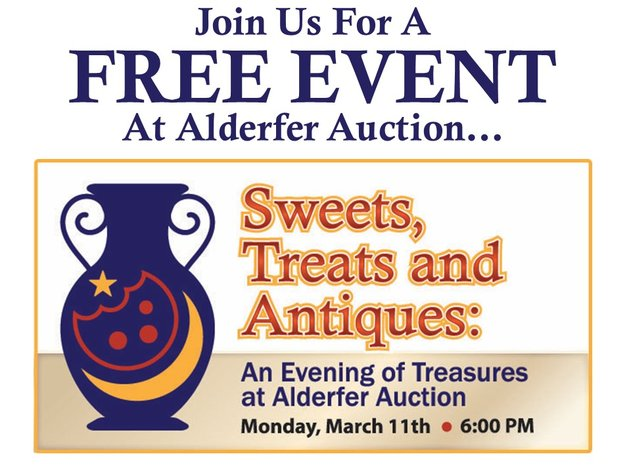 Sweets, Treats and Antiques - An Evening of Treasures at Alderfer Auction: 3-11-19
