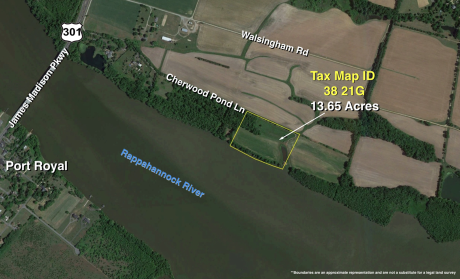 Image for Lot Tax Map 38-21G – 13+/- acres.  Gorgeous Rappahannock River Front Lot of 13+/- Acres-- King George County, VA