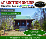 Cabin at Moncove Lake Online Auction