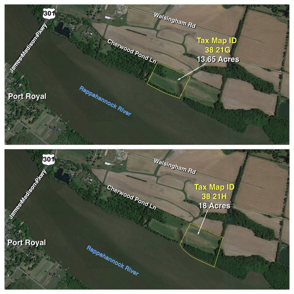Image for Lot Tax Map 38-21H – 18+/- acres. Gorgeous Rappahannock River Front Lot of 18+/- Acres-- King George County, VA