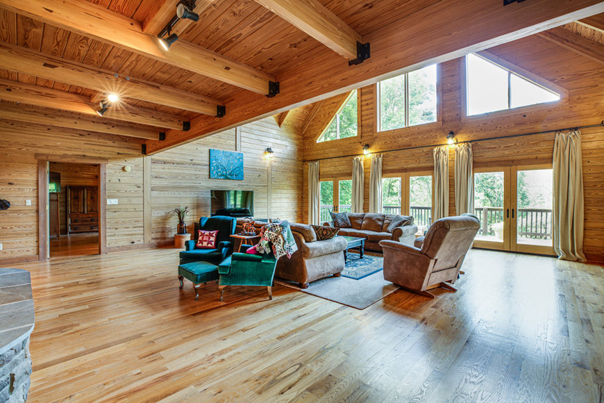 Image for Beautiful 3 BR/3.5 BA Custom Built Log Home w/Guest Cottage & 4 Stall Barn on 18.7 +/- Acres in Madison County, VA