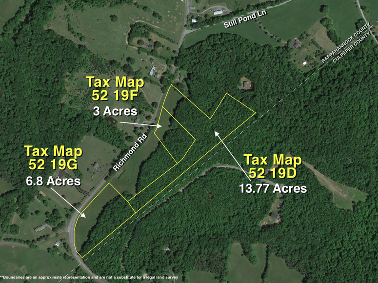 Image for 6.8 +/- Acres w/900' +/- of Frontage on Richmond Rd. in Rappahannock County, VA and 3 +/- Acres w/289' +/- of Frontage on Richmond Rd. in Rappahannock County, VA and 13.7 +/- Acres w/260' +/- of Frontage on Richmond Rd. in Rappahannock County, VA