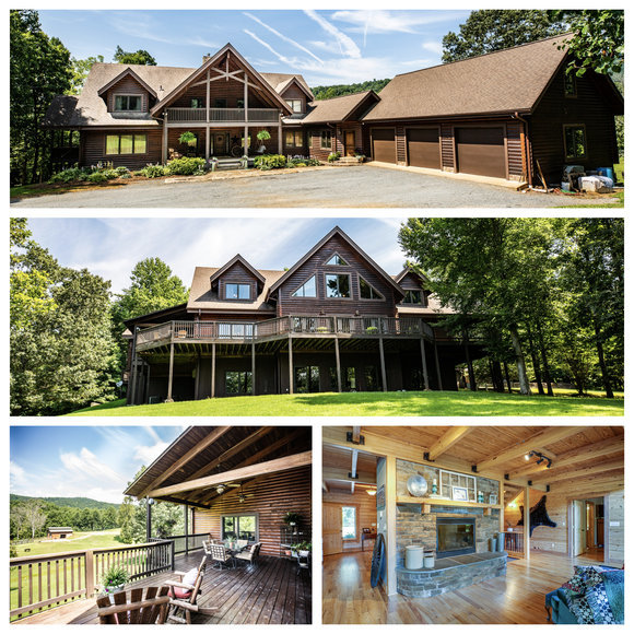 Featured Image for Beautiful 3 BR/3.5 BA Custom Built Log Home w/Guest Cottage & 4 Stall Barn on 18.7 +/- Acres in Madison County, VA
