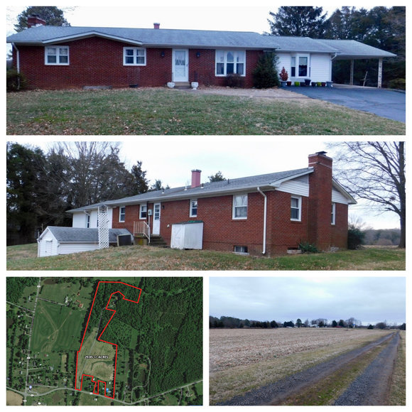 Image for 3 BR/2 BA Brick Home on 29.8 +/- Acres w/Up to 3 Potential Division Rights--Fauquier County, VA and 28.6 +/- Acres of Open Land w/Barn & Pond and Up to 3 Potential Division Rights--Fauquier County, VA