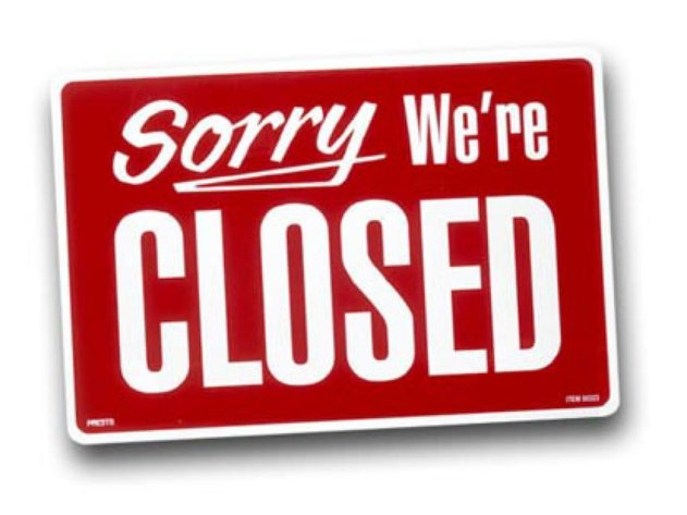 We will be Closed ALL Saturdays in July.