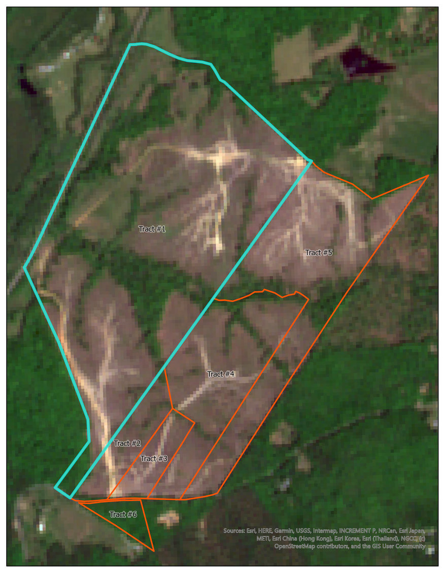 Image for Tract #1:  151.86 +/- acres; Tax Map:  19-2-1 (Albemarle); Zoning:  Agriculture