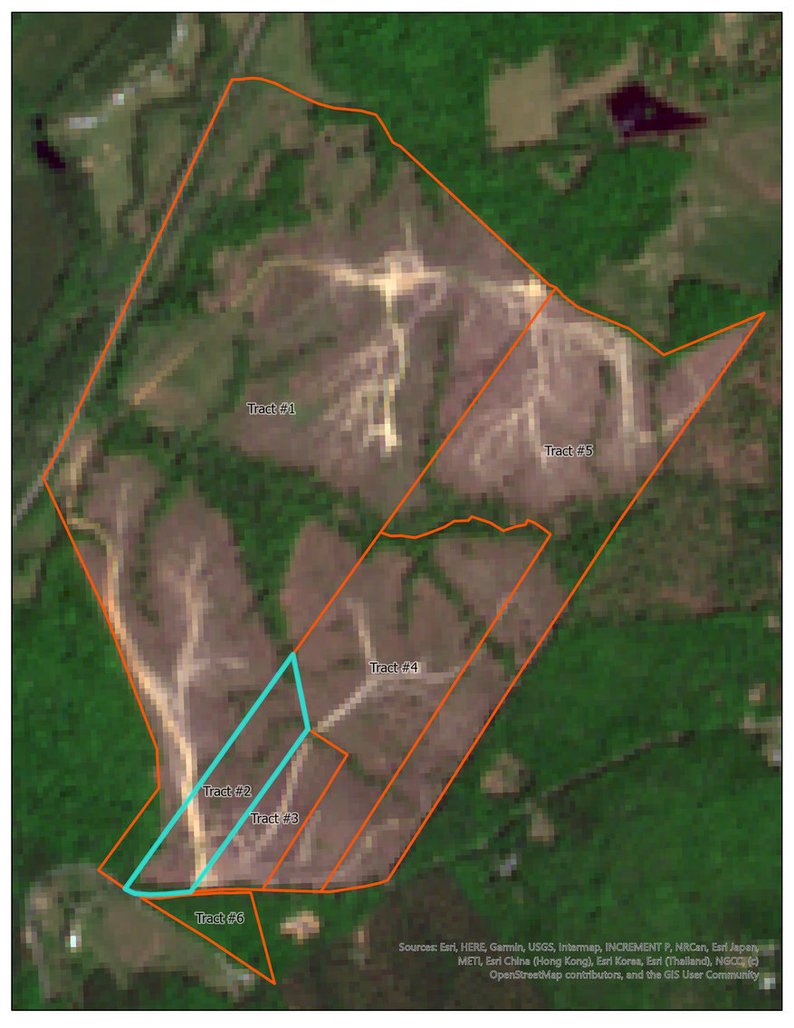 Image for Tract #2:  10.36 +/- acres; Tax Map:  19-25A (Louisa); Zoning:  A2