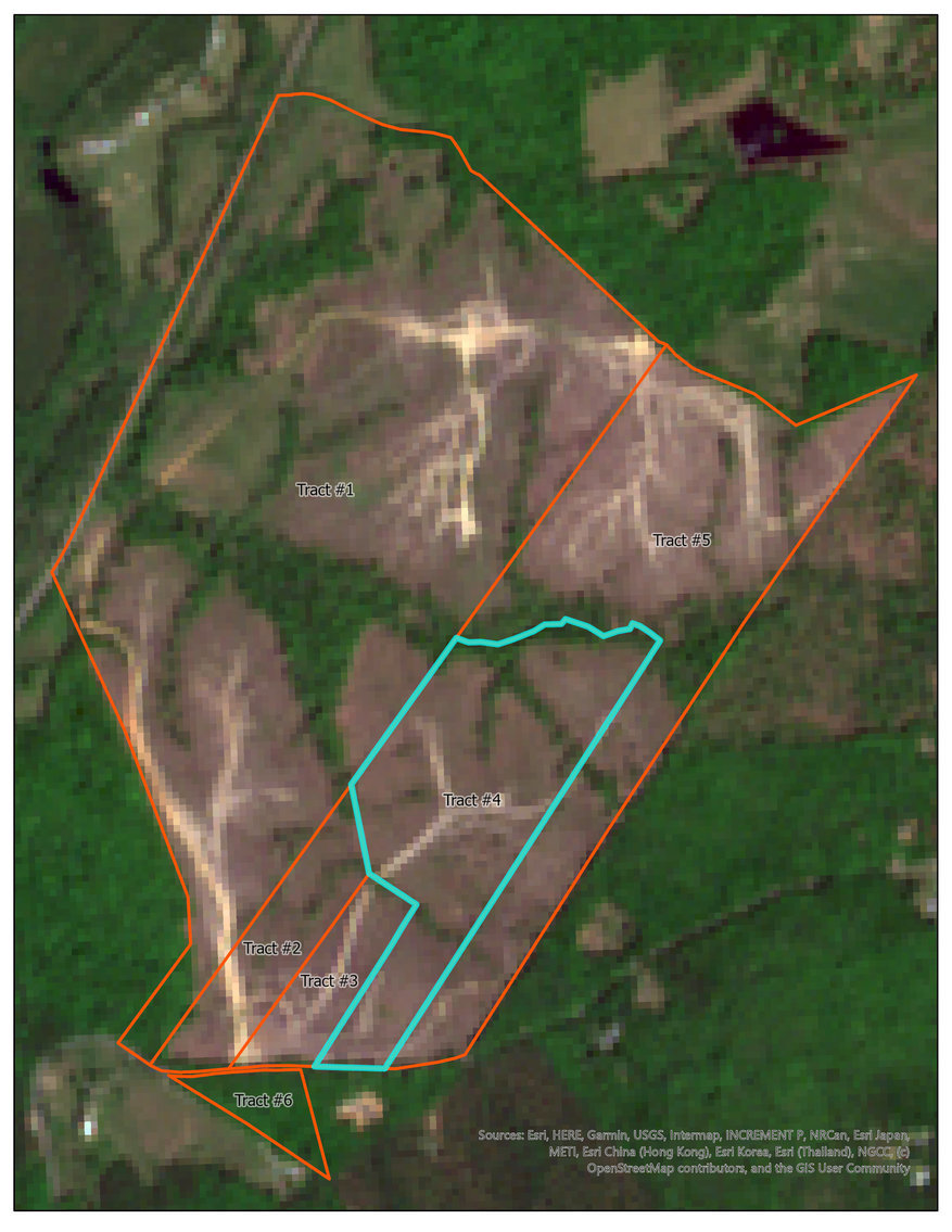 Image for Tract #4:  36.078 +/- acres:  Tax Map:  19-25C (Louisa); Zoning:  A2