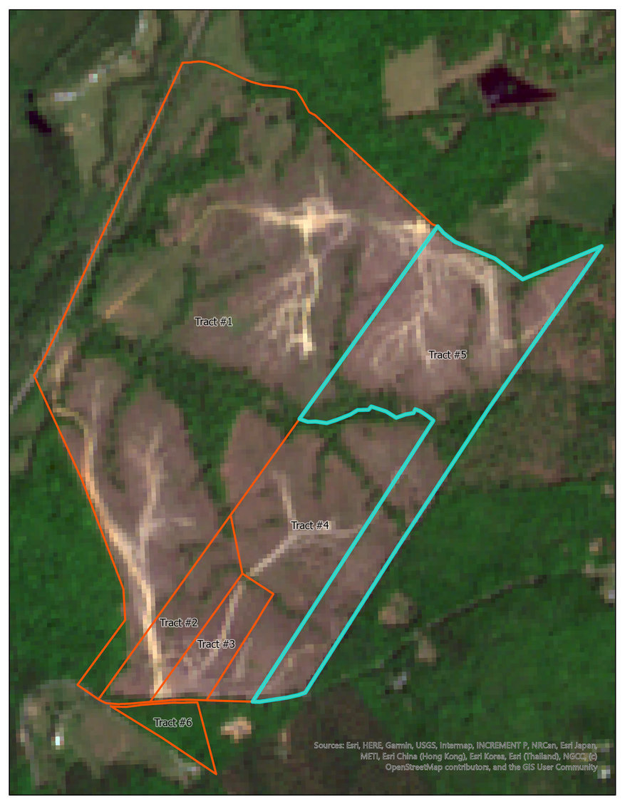 Image for Tract #5:  56.911 +/- acres:  Tax Map:  19-25D (Louisa); Zoning:  A2