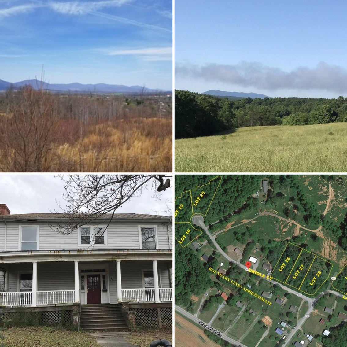Image for MULTI-PROPERTY REAL ESTATE AUCTION: Including Acreage, Home & Vacant Lots (Bedford, VA)