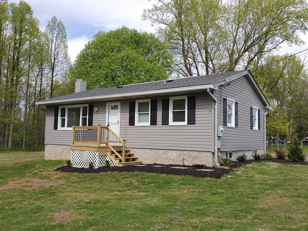 COMPLETELY RENOVATED  3 BEDROOM, 2 BATH VINYL-SIDED RANCHER ON PRIVATE 2.03+/- AC COUNTRY LOT