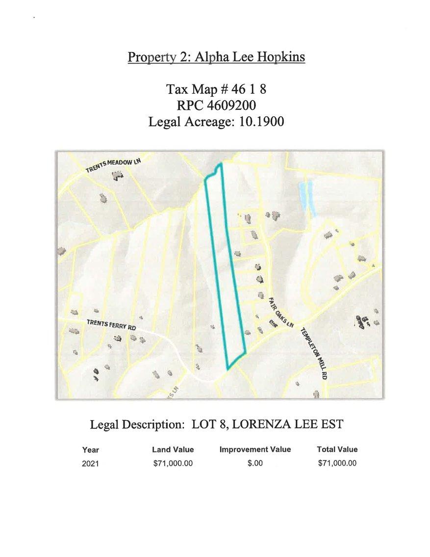 Image for 10.19 acres +/-, Trent's Ferry Road, Lynchburg, Lot 8 Lorenza Lee Est.