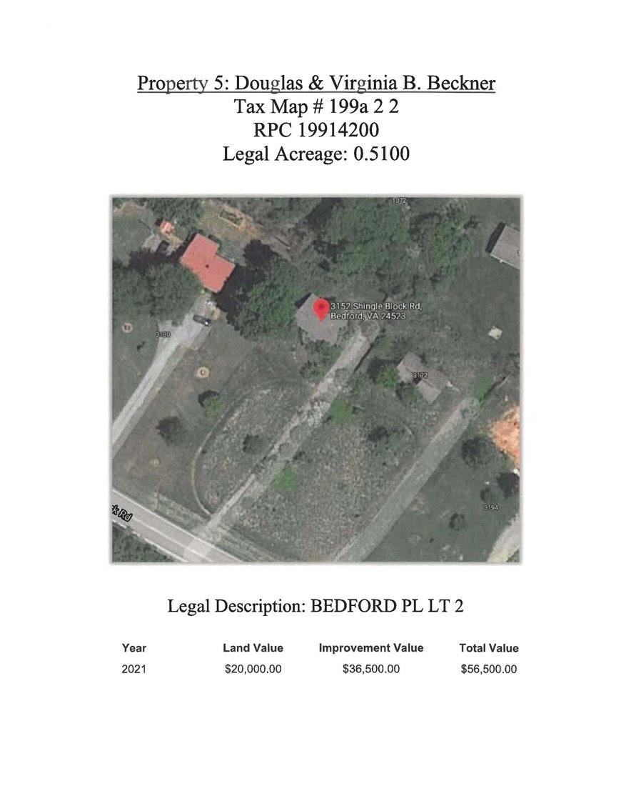 Image for 3152 Shingle Block Road, Bedford, 0.51 acre +/- Lot 2