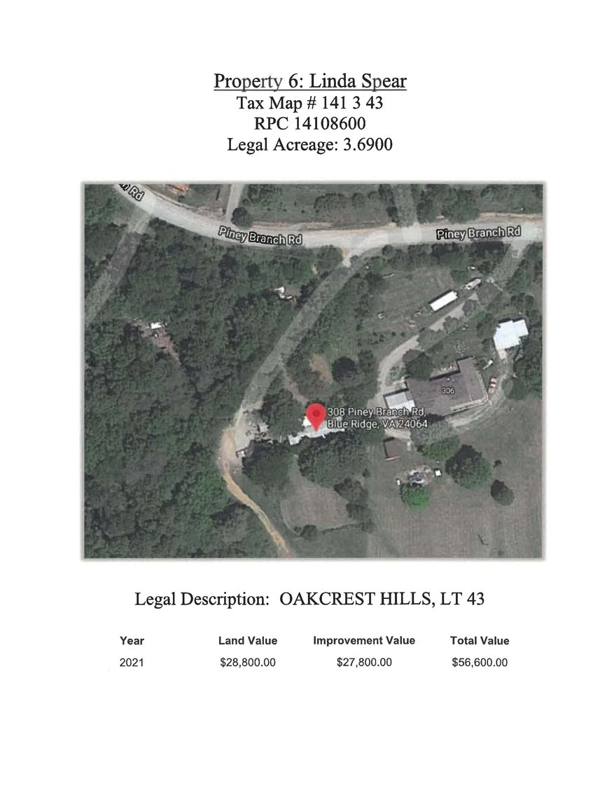 Image for 308 Piney Branch Road, Blue Ridge, 3.69 acre +/- Oakcrest Hills Lot 43