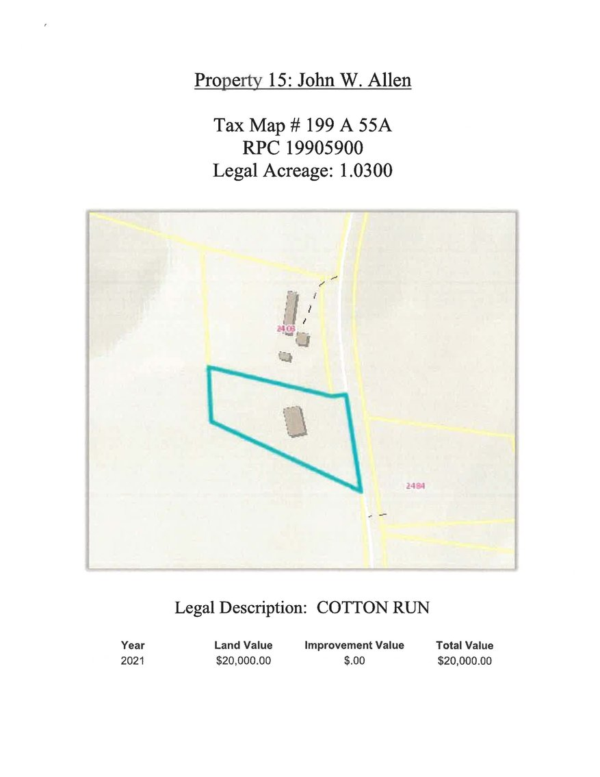 Image for 1.03 acres +/- Cotton Run, on Wilson Church Road, Bedford