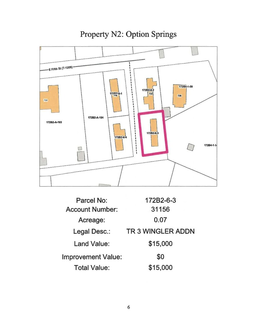Image for N- 724 E. 5th Street, Town of Damascus, Tract 3, 0.07 acre +/-