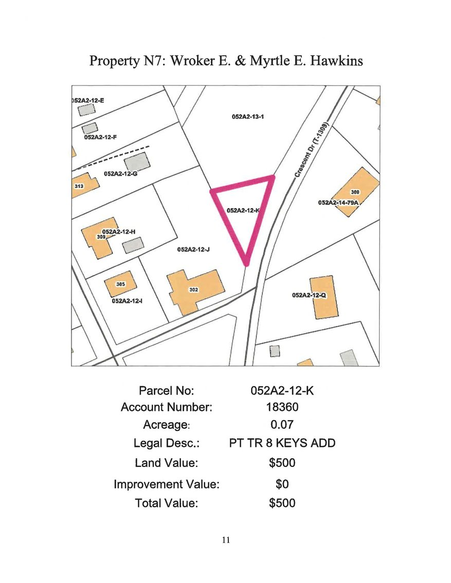 Image for N- 0.07 acre +/- part Tract 8 on Crescent Drive in the Town of Glade Spring