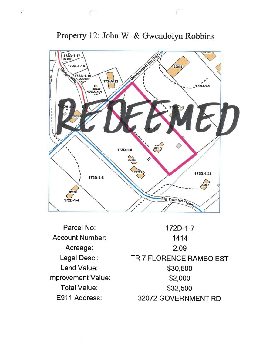 Image for *** REDEEMED*** 32072 Government Road, Damascus 2.09 acres, more or less