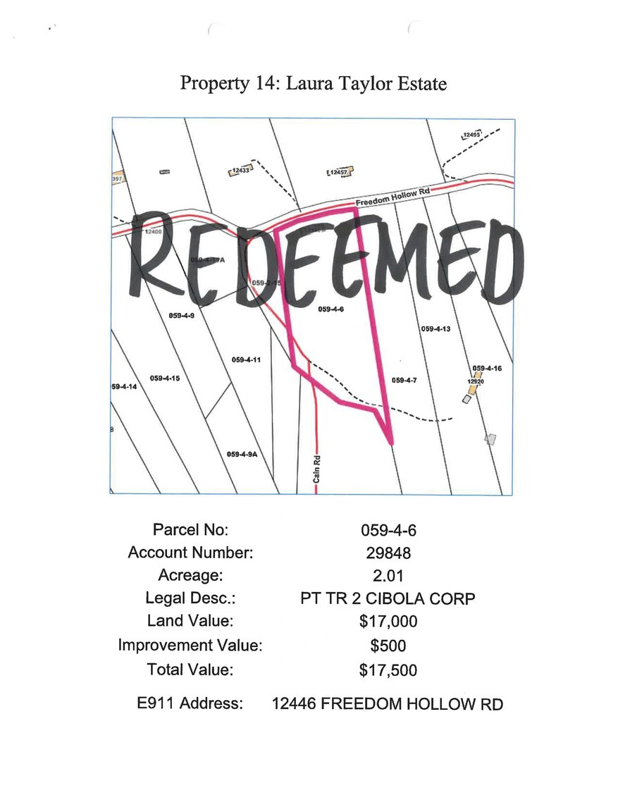Image for *** REDEEMED*** 12446 Freedom Hollow Road, Bristol 2.01 acres, more or less