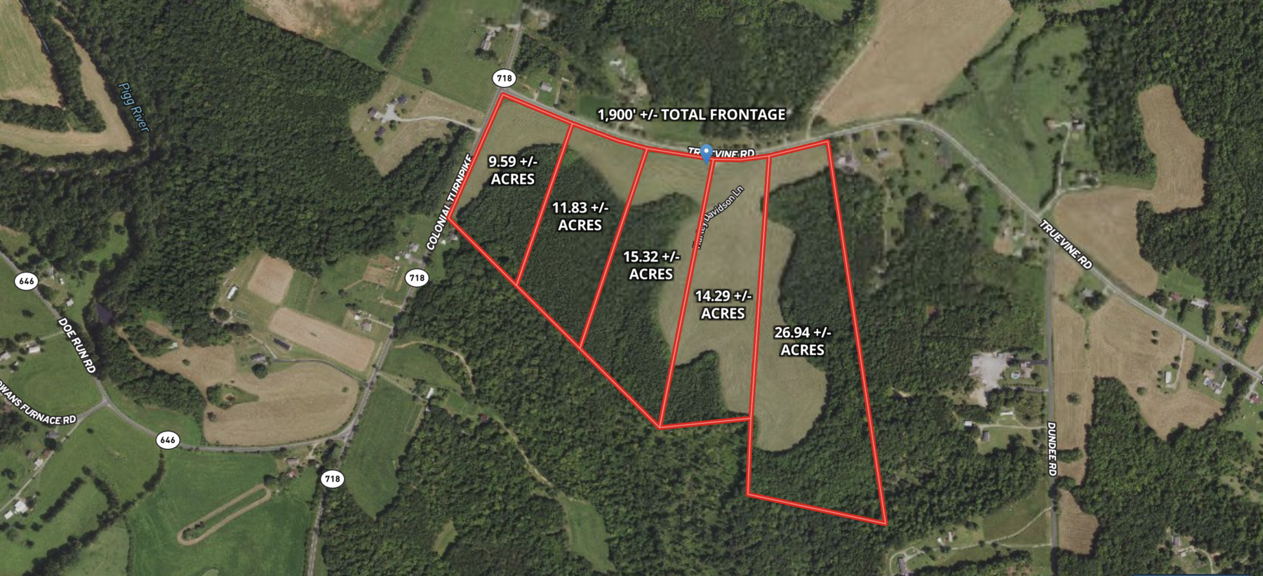 Image for Parcel 2 (11.83+/- acres) of 5 Individual Land Parcels Totaling 77.9 +/- Acres in Franklin County, VA, Only 10 Miles from Smith Mountain Lake--ONLINE ONLY BIDDING!!