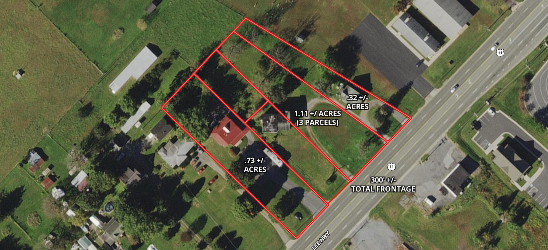 Image for Combination of #1, #2, and #3. -- .73 +/- Acres w/2 Story Structure; 1.11 +/- Acres w/4 BR/2 BA Structure; and .32 +/- Acres w/3 BR/1 BA Brick Structure Fronting Rt. 11 (Lee Hwy.) in Augusta County, VA--SELLING to the HIGHEST BIDDER!!