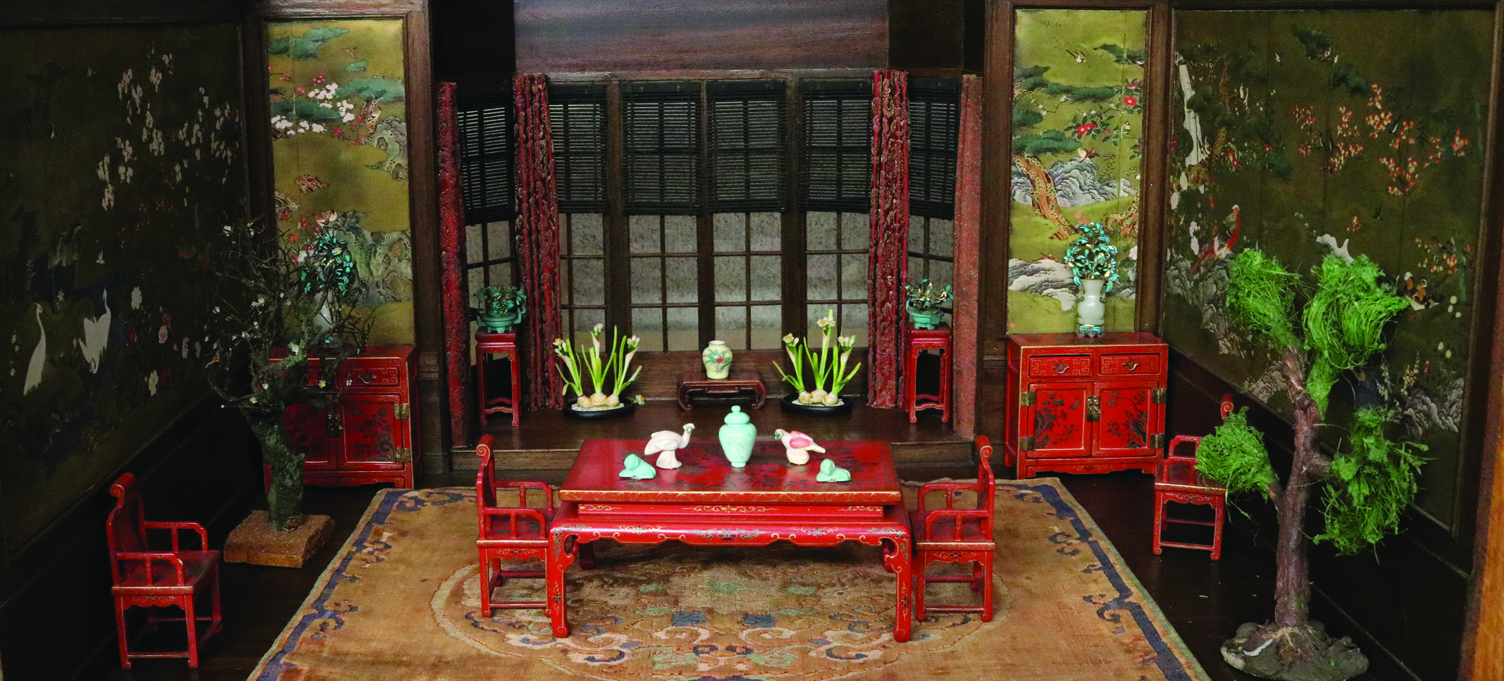 Miniature Chinese dining room by Frederick B. Hicks