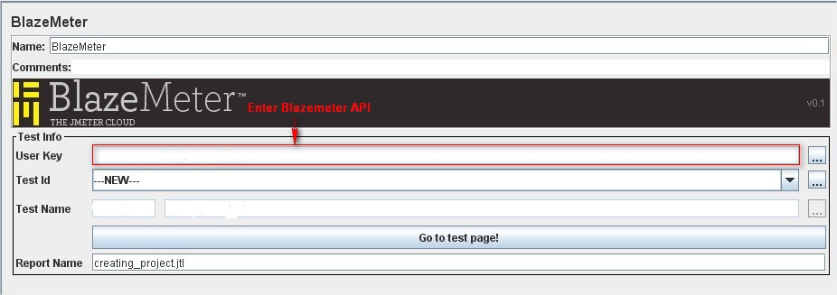 BlazeMeter Listener in Test Plan