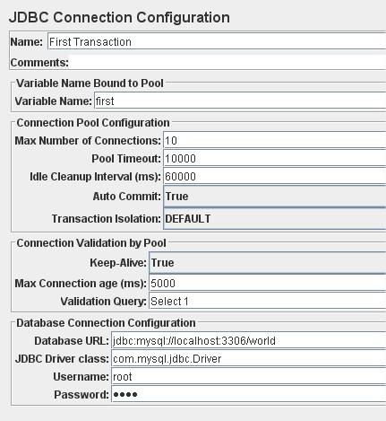 JDBC Connection Configuration