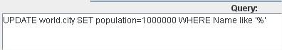 JDBC Request SQL Query