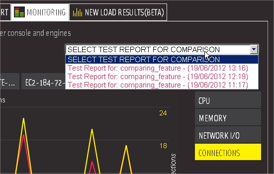 Compare Reports Dropdown