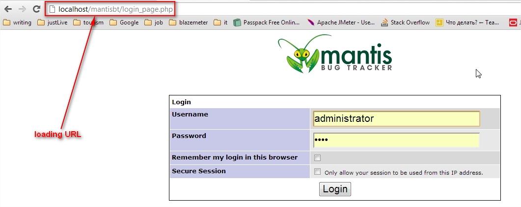 Loading main window of application.
