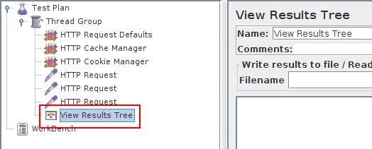 JMeter: View Results Tree