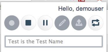 BlazeMeter Chrome Extension: Name test