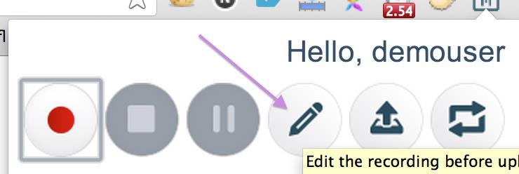 BlazeMeter Chrome Extension:Edit recording before uploading