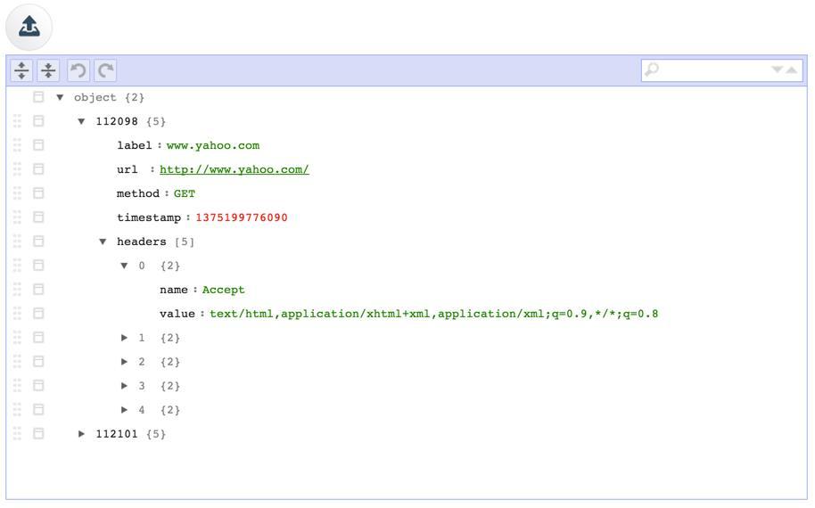 BlazeMeter Chrome Extension: Edit JSON structure