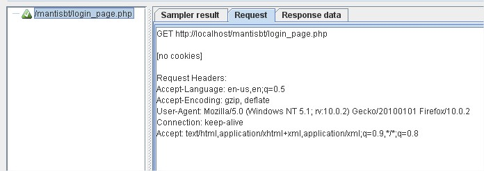 request result in View Results Tree.